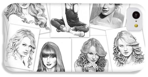 Taylor Swift Collage IPhone 5c Case by Murphy Elliott
