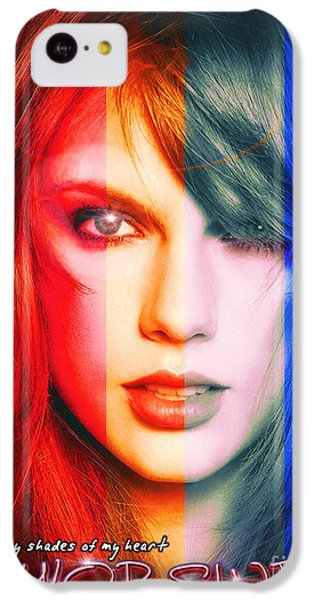 Taylor Swift - Sparks Alt Version IPhone 5c Case by Robert Radmore