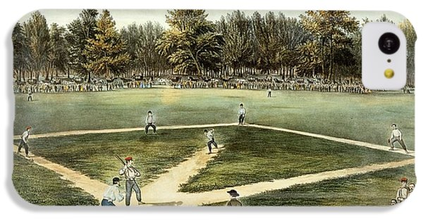 The American National Game Of Baseball Grand Match At Elysian Fields IPhone 5c Case by Currier and Ives