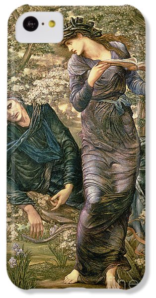 The Beguiling Of Merlin IPhone 5c Case by Sir Edward Burne-Jones