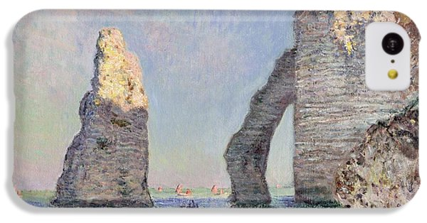 The Cliffs At Etretat IPhone 5c Case by Claude Monet