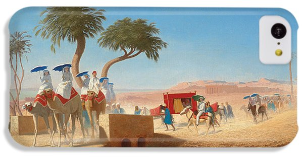 The Empress Eugenie Visiting The Pyramids IPhone 5c Case by Charles Theodore Frere