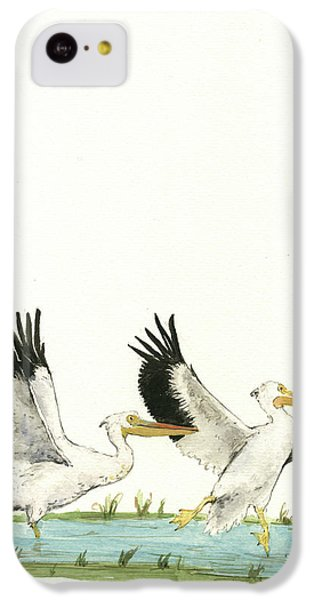 The Fox And The Pelicans IPhone 5c Case by Juan Bosco