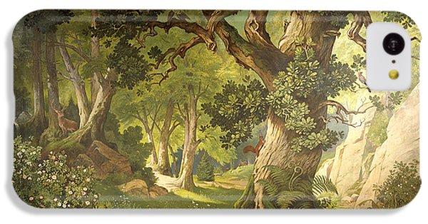 The Garden Of The Magician Klingsor, From The Parzival Cycle, Great Music Room IPhone 5c Case by Christian Jank