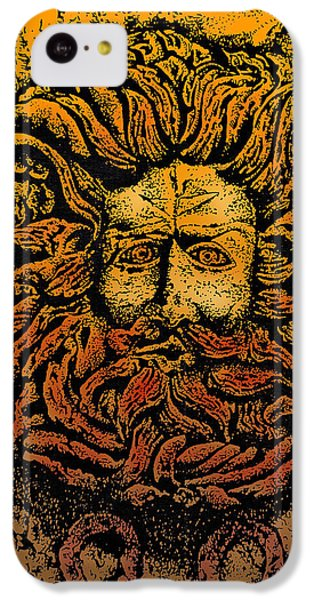 The Gorgon Man Celtic Snake Head IPhone 5c Case by Larry Butterworth
