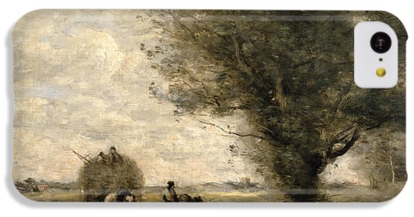 The Haycart IPhone 5c Case by Jean Baptiste Camille Corot