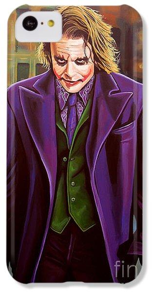 The Joker In Batman  IPhone 5c Case by Paul Meijering
