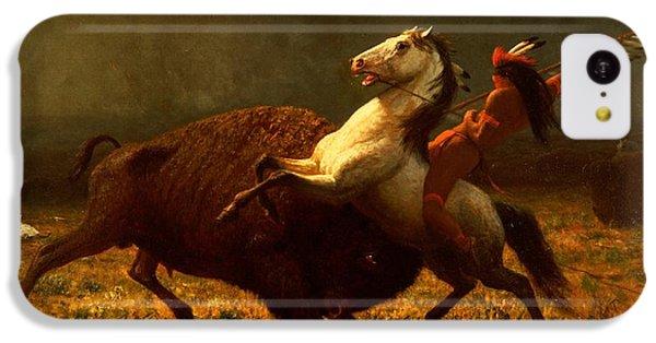 The Last Of The Buffalo IPhone 5c Case by Albert Bierstadt