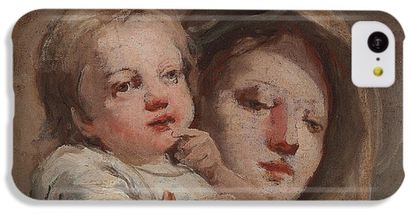The Madonna And Child With A Goldfinch IPhone 5c Case by Tiepolo