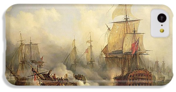 The Redoutable At Trafalgar IPhone 5c Case by Auguste Etienne Francois Mayer
