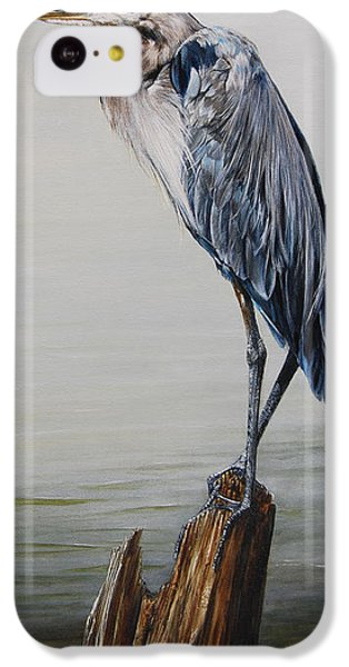 The Sentinel - Portrait Of A Great Blue Heron IPhone 5c Case by Rob Dreyer AFC