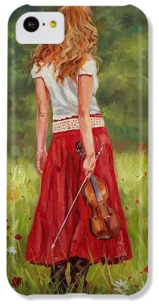 The Violinist IPhone 5c Case by David Stribbling