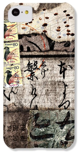 Three Bird Night Collage IPhone 5c Case by Carol Leigh