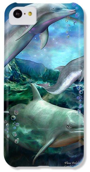 Three Dolphins IPhone 5c Case by Carol Cavalaris