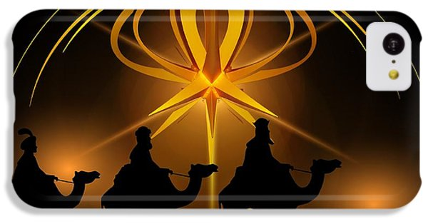 Three Wise Men Christmas Card IPhone 5c Case by Bellesouth Studio