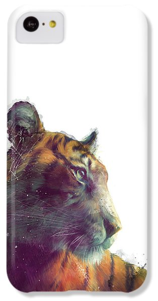 Tiger // Solace - White Background IPhone 5c Case by Amy Hamilton