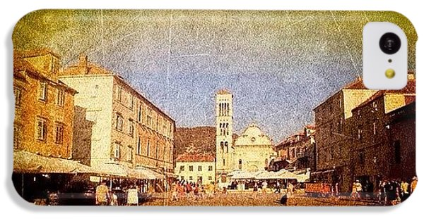 Town Square #edit - #hvar, #croatia IPhone 5c Case by Alan Khalfin