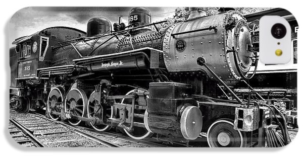 Train - Steam Engine Locomotive 385 In Black And White IPhone 5c Case by Paul Ward