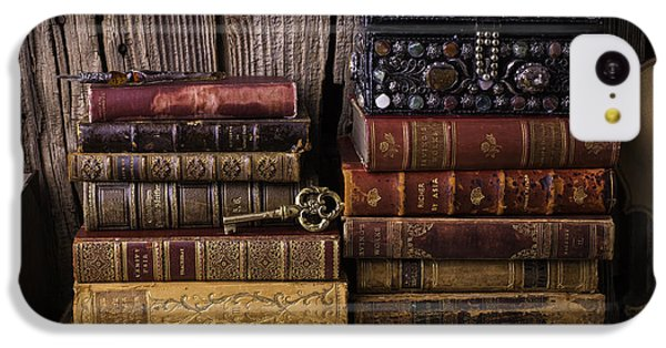 Treasure Box On Old Books IPhone 5c Case by Garry Gay