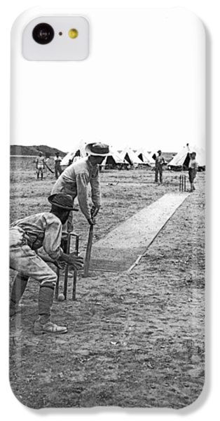 Troops Playing Cricket IPhone 5c Case by Underwood Archives