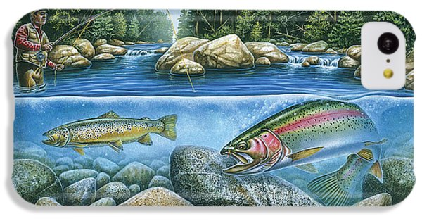Trout View IPhone 5c Case by JQ Licensing