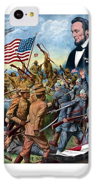 True Sons Of Freedom -- Ww1 Propaganda IPhone 5c Case by War Is Hell Store