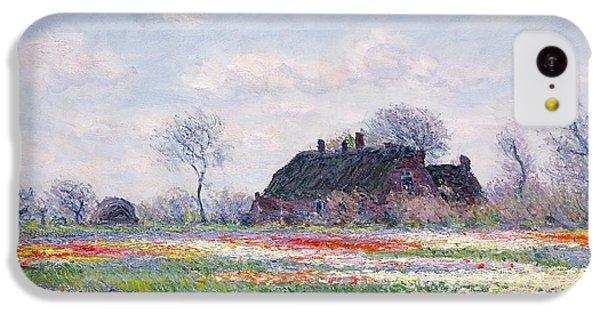 Tulip Fields At Sassenheim IPhone 5c Case by Claude Monet