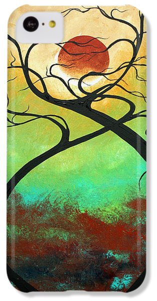 Twisting Love II Original Painting By Madart IPhone 5c Case by Megan Duncanson