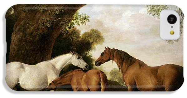 Two Mares And A Foal IPhone 5c Case by George Stubbs