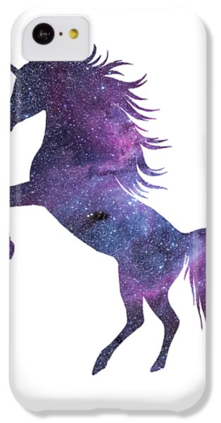 Unicorn In Space-transparent Background IPhone 5c Case by Jacob Kuch