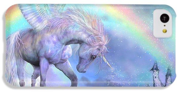 Unicorn Of The Rainbow IPhone 5c Case by Carol Cavalaris