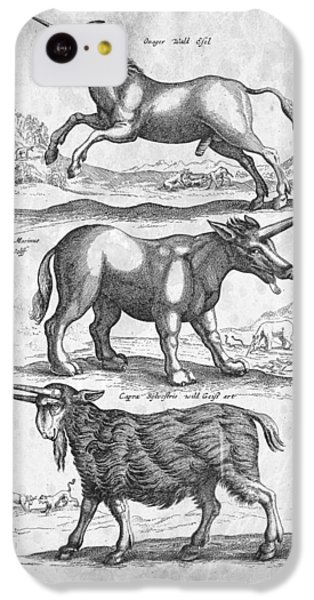 Unicorns Historiae Naturalis 1657 IPhone 5c Case by Aged Pixel