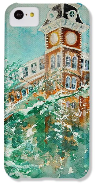 Ice On Old Main IPhone 5c Case by Robin Miller-Bookhout