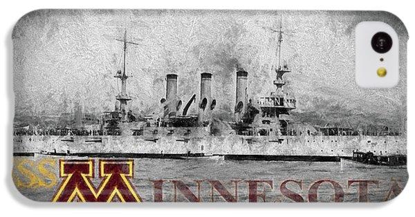Uss Minnesota IPhone 5c Case by JC Findley