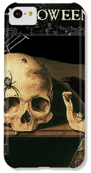 Vanitas Skull And Raven IPhone 5c Case by Striped Stockings Studio