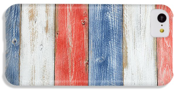 Vertical Stressed Boards Painted In Usa National Colors IPhone 5c Case by Thomas Baker