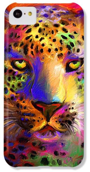 Vibrant Leopard Painting IPhone 5c Case by Svetlana Novikova