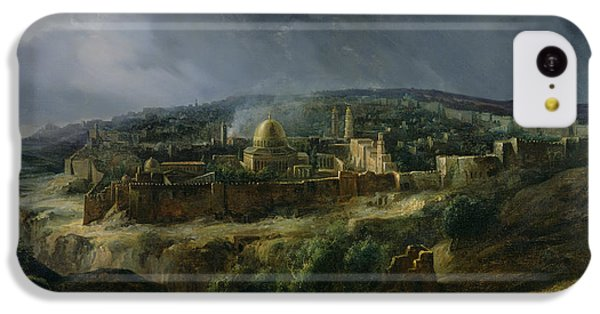 View Of Jerusalem From The Valley Of Jehoshaphat IPhone 5c Case by Auguste Forbin