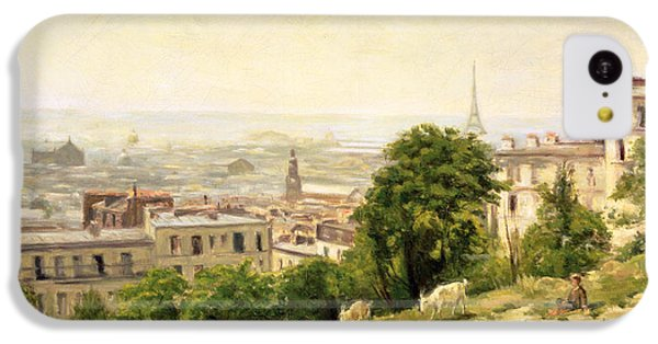 View Of Paris IPhone 5c Case by Stanislas Victor Edouard Lepine
