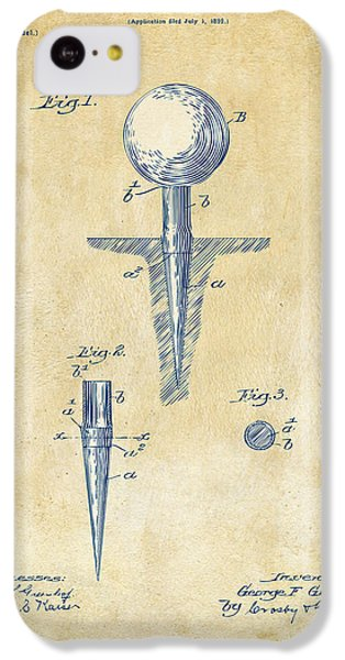 Vintage 1899 Golf Tee Patent Artwork IPhone 5c Case by Nikki Marie Smith
