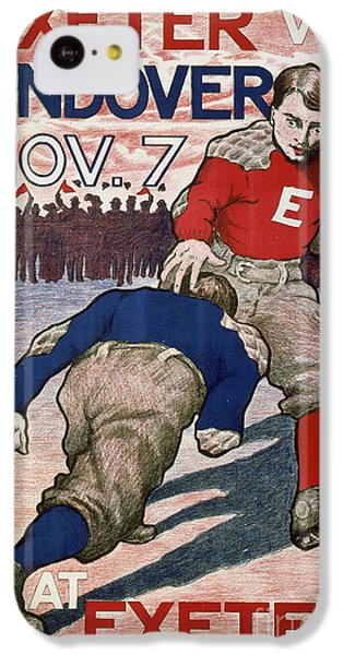 Vintage College Football Exeter Andover IPhone 5c Case by Edward Fielding
