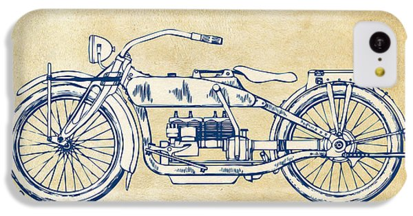 Vintage Harley-davidson Motorcycle 1919 Patent Artwork IPhone 5c Case by Nikki Smith