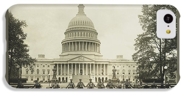Vintage Motorcycle Police - Washington Dc  IPhone 5c Case by War Is Hell Store