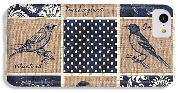 Vintage Songbird Patch 2 IPhone 5c Case by Debbie DeWitt