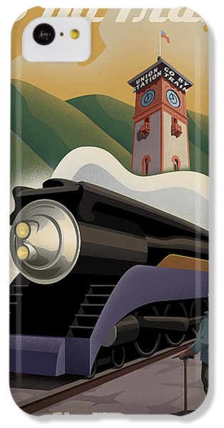Vintage Union Station Train Poster IPhone 5c Case by Mitch Frey