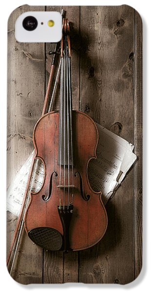 Violin IPhone 5c Case by Garry Gay