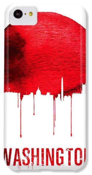 Washington Skyline Red IPhone 5c Case by Naxart Studio