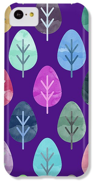 Watercolor Forest Pattern II IPhone 5c Case by Amir Faysal