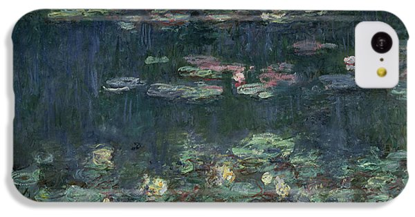 Waterlilies Green Reflections IPhone 5c Case by Claude Monet