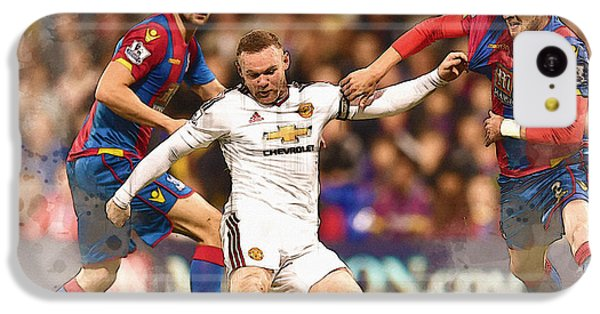 Wayne Rooney Shoots At Goal IPhone 5c Case by Don Kuing